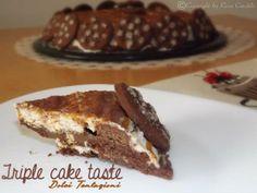 La Trible #cake taste , è una golosa #torta con tre gusti golosi, l'accoppiata #nutella,#panna e #dulce de leche