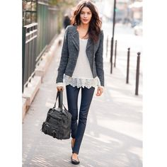 Jacket http://www.laredoute.gr/SOFT-GREY-Konto-sakaki_p-253116.aspx?prId=324411469