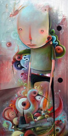 + Arte :     As pinturas diferentes de Philip Bosmans.