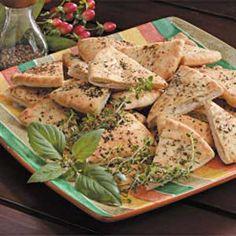 Herbed Pita Chips - use Joseph's pitas