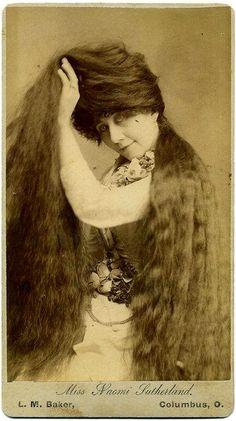 Victorian  long hair