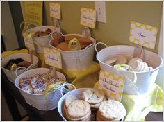 Cookie buffet for a wedding, shower, birthday party...love this idea!