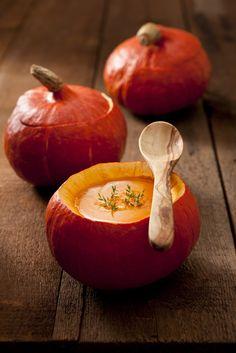 Pumpkin Soup in a pumpkin! #recipes #fall