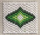 Mini Bargello Needlepoint free pattern. See it at: http://www.nuts-about-needlepoint.com/sylvan-mini-bargello-boxtop/ Image & design copyright Napa Needlepoint.