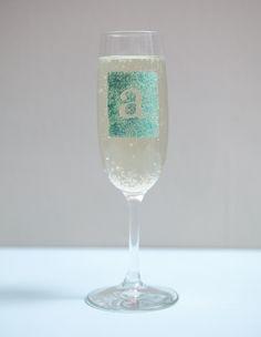 DIY   glam champagne glasses