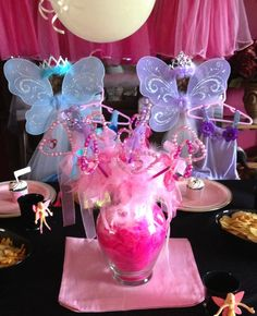 Princess Party Ideas.  Fairy Princess Birthday Party Supplies from My Princess Party to Go. Shop for this Fairy Princess Party at www.myprincesspartytogo.com  #princesspartyideas #Princessparty #fairyparty #fairyprincess
