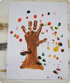 toddler fall painting