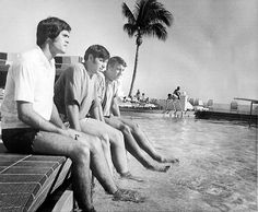 Nebraska quarterbacks cool their toes in the pool at the Ivanhoe Hotel at Miami Beach on Dec. 31, 1970. From left are Van Brownson, Jerry Tagge and Bob Jones. The Huskers beat LSU 17-12 at the Orange Bowl in Miami on Jan. 1, 1971. THE WORLD-HERALD