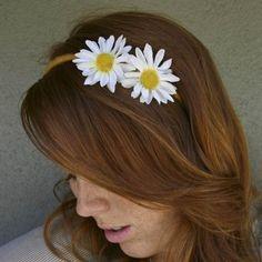 Daisy Headband, He Loves Me, He Loves Me Not by BeSomethingNew