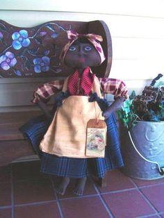Primitive fabric Folk Art Mammy Doll, Apron Special Order Buy it now