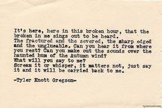 T.K.G. autumn words