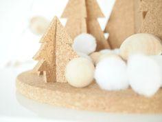 DIY Cork Winter Wonderland #diy #crafts #christmas