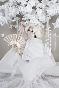 White #Geisha by Gwen #Brydson, via Behance