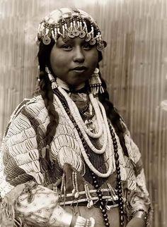Wishham Indian Bride. Taken in 1910 by Edward S. Curtis.