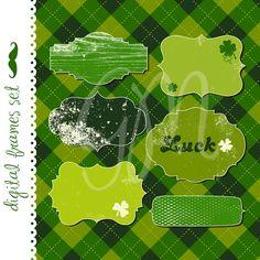 12 St. Patrick's Day Frames Digital clip art by GraphicMarket, $4.99