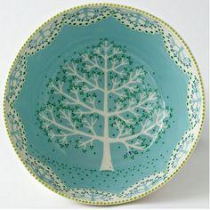 ceramic bowls, charm ceram, tree, plate, ceramic art
