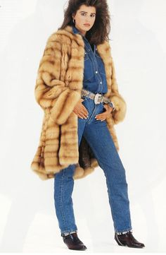 golden sable fur coat