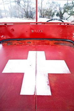 willi jeep, cross classic, red cross, jeep thing, simpl cross