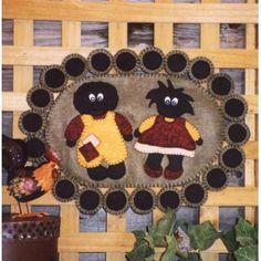 Golliwog penny rug pattern