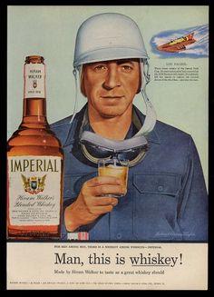 1955 Hydroplane Boat Racer Lou Fageol Pic Hiram Walker Imperial Whiskey Print Ad | eBay