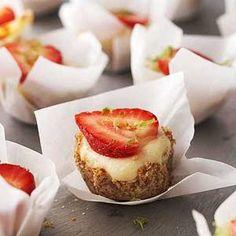 Strawberry Margarita Cheesecake Minis