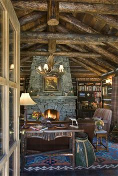 """Watkins Creek Historical Ranch -  in Montana by: Architect Miller Architects one of my favorite architects in Montana - and a female architect who """"gets it"""" as far as historical log home design!"""