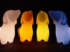 Dachshund Lamp by offi: Available in Soft White, Mellow Yellow, Sky Blue, Sunset Orange, Hot Pink and Misty Green. @Divya Silbermann (Bhaskaran)  #Lamp #Dachshund_Lamp #offi