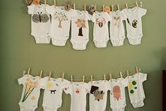 baby shower onesies decorated