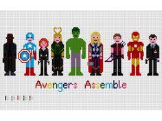Avengers Assemble EXTENDED - Marvel Cross Stitch Pattern (PDF). £3.00, via Etsy.