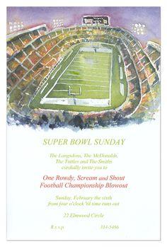 Football Stadium Invitation