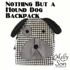hound dog, kids diy, dog backpack, diy crafts, sewing crafts, school supplies, sewing tutorials, sewing patterns, back to school