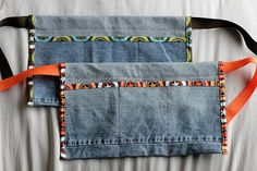little boy tool belts from old jeans... yes, yes!