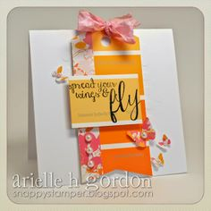 Cute use of a paint chip sampler on a handmade card!