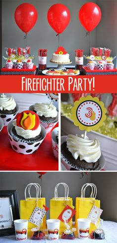 Cute Firefighter Birthday Party!