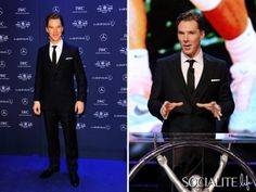 Benedict Cumberbatch Looks Handsome In His Suit For The 2014 Laureus World Sports Awards