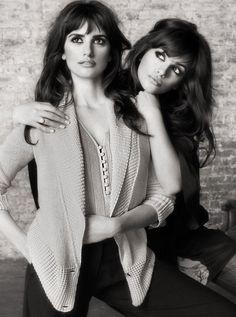 Penelope Cruz and her sister, Monica Cruz