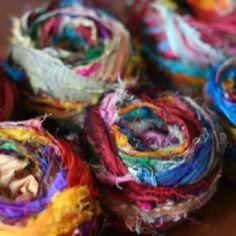 strip ribbon, craft, saris, silk ribbon, ribbons, sari ribbon, knit, sari silk, yarn