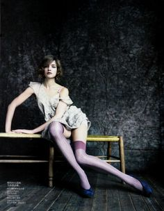 violet thigh highs