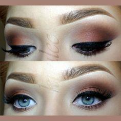 (kitulec) Lovely natural look with inglot matte eyeshadows