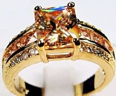 'Size 10 Elegant Fine Champagne Citrine Ring' is going up for auction at  9am Sun, Nov 25 with a starting bid of $7.