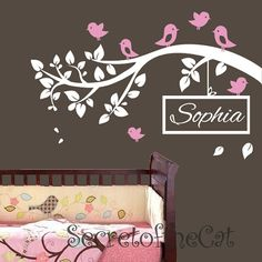 Nursery Wall decal  branch vinyl decal vinyl by secretofthecat