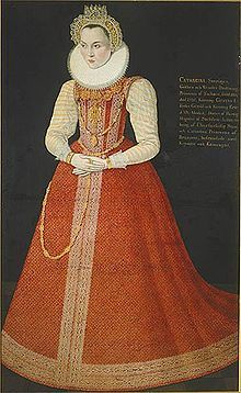Portrait of Sophia of Sweden (1547 - 1611). Daughter of Gustav I and Margaret Leijonhufvud. She married Magnus II of Saxe-Lauenburg, who abused her until she was driven insane. Her brother John III forced her husband to leave her in 1578.