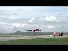 "#video P Boeing 720B ""Red"" Flying Test Bed last flight"