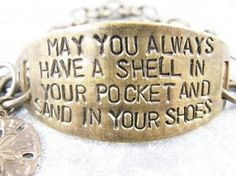 May you Always Have a Shell in your Pocket Bracelet ~ Wish Of Happiness to whoever is wearing it!