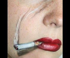 "makeup art-- from ""15 Easy Last Minute Halloween Costume Face Paint Ideas"" BellaSugar"