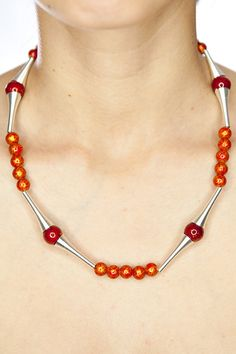 Beaded necklace/ sparkling cosmic necklace fall by DevikaBox, $16.00