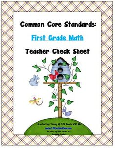 This packet includes all of the Common Core Standards for First Grade Math. It is organized in a way that the teacher, or parent, can keep track of...