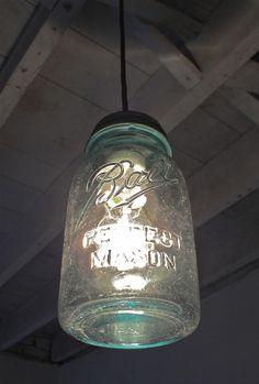 Vintage Ball jar lamp