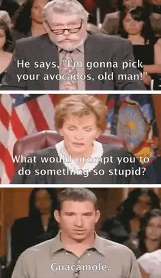 Best. Judge Judy moment. Ever.