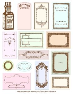 Free apothecary bottles labels